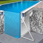 Pannello, contraforti e accessori per vasca autoportante