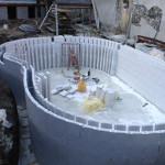 piscina in casseri di polistirolo