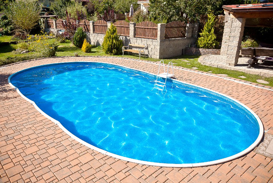 Vendita piscine interrate piscine in lamiera d 39 acciaio azuro - Piscine in vetroresina economiche ...