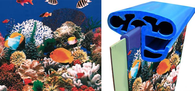 liner acquario per piscine interrate rotonde